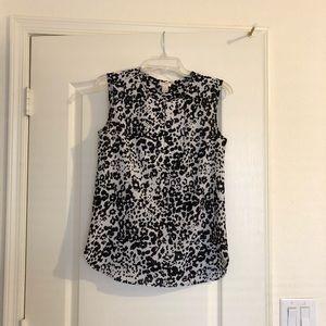 J Crew Factory print tunic top